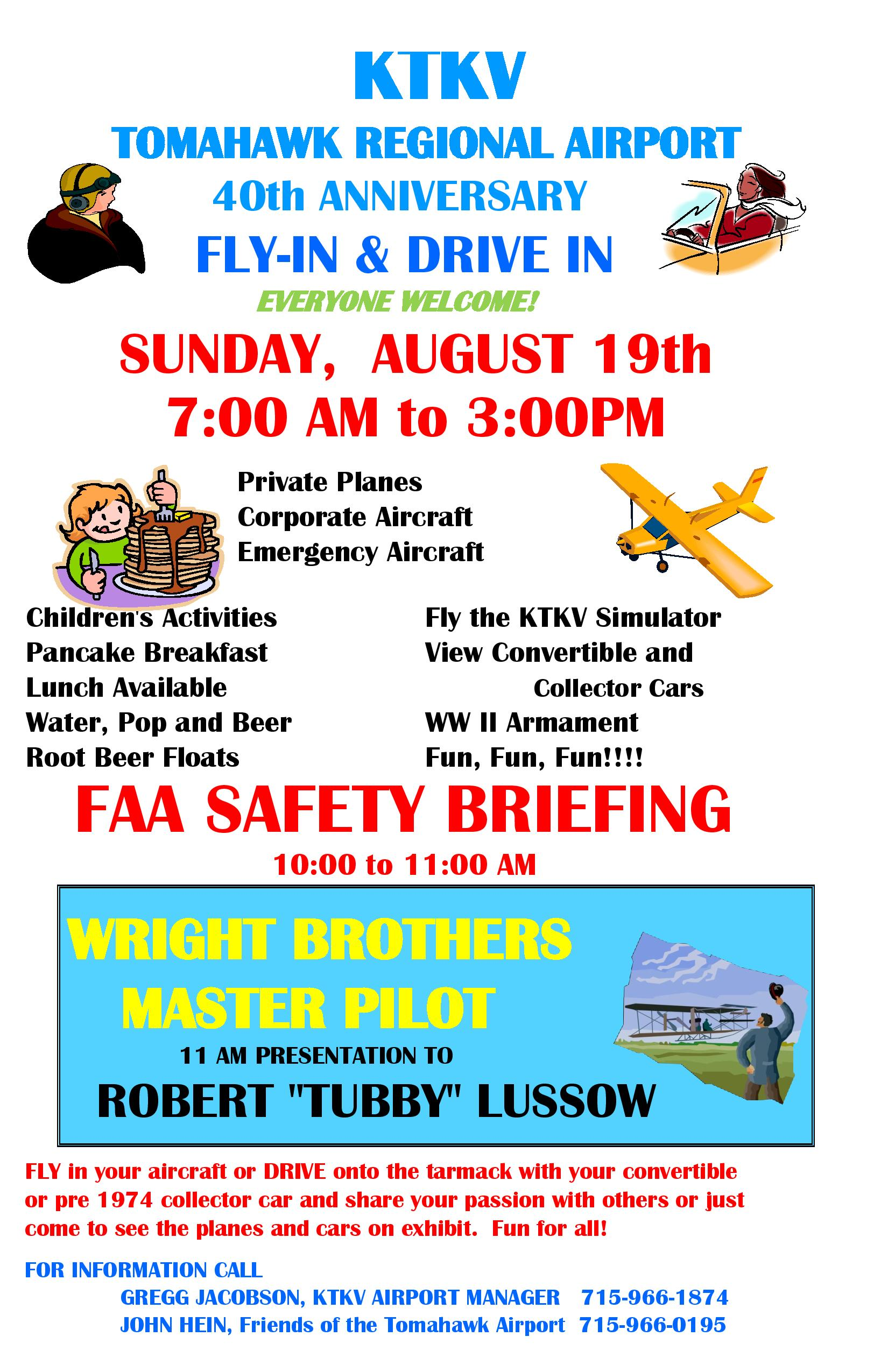 KTKV 40th Anniversary Fly-In & Drive-In